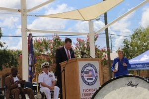 Commissioner Bender at Escambia County 200th Anniversary