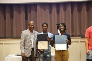 District 3 Commissioner Lumon May with Summer 2021 Youth Employment Program participants.