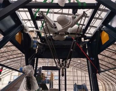 Robot used in plastic sorting area at ECUA Materials Recycling Facility