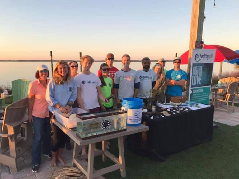 Healthy Gulf Team ready for the event